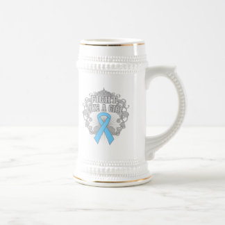 Prostate Cancer Fight Like A Girl Fleurish Coffee Mugs