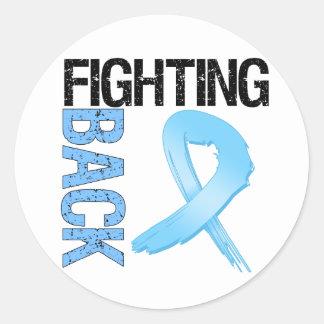 Prostate Cancer Fighting Back Round Sticker