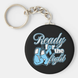 Prostate Cancer Gloves Ready For The Fight Basic Round Button Key Ring
