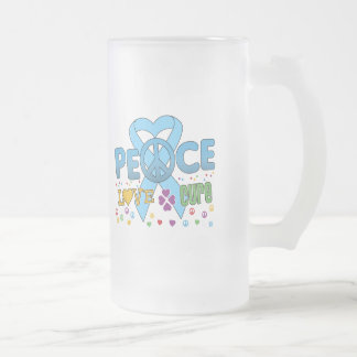 Prostate Cancer Groovy Peace Love Cure Mugs