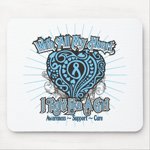 Prostate Cancer Heart I Fight Like A Girl Mouse Pad