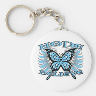 Prostate Cancer Hope Believe Butterfly Basic Round Button Key Ring