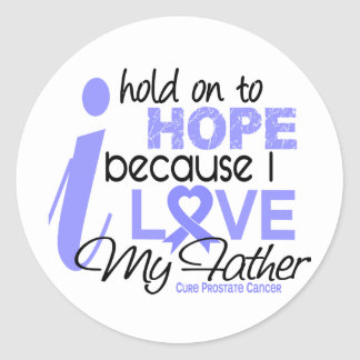 Prostate Cancer Hope for My Father Classic Round Sticker