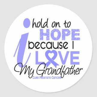 Prostate Cancer Hope for My Grandfather Round Sticker