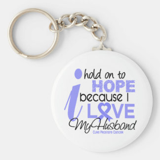 Prostate Cancer Hope for My Husband Key Ring