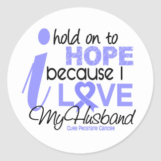 Prostate Cancer Hope for My Husband Round Sticker