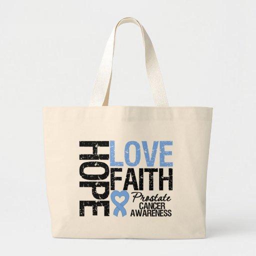 Prostate Cancer Hope Love Faith Bags