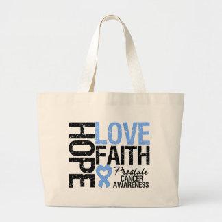 Prostate Cancer Hope Love Faith Jumbo Tote Bag