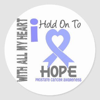 Prostate Cancer I Hold On To Hope Round Stickers