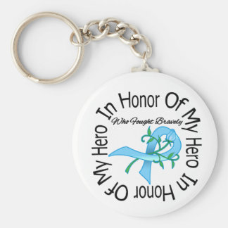 Prostate Cancer In Honor Of My Hero Key Chain