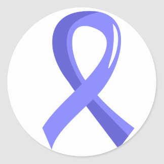 Prostate Cancer Light Blue Ribbon 3 Classic Round Sticker