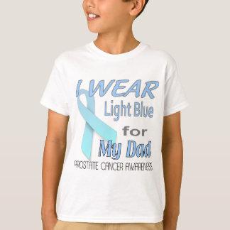 Prostate Cancer Light Blue Ribbon Awareness Logo T-Shirt