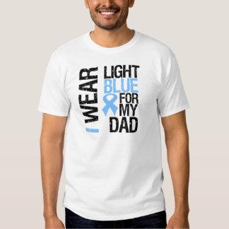 Prostate Cancer Light Blue Ribbon Dad Shirt