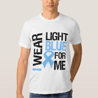 Prostate Cancer Light Blue Ribbon For Me Shirts