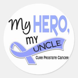 Prostate Cancer MY HERO, MY UNCLE 42 Round Sticker