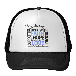 Prostate Cancer My Journey Begins With FAITH Trucker Hat