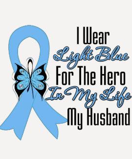 Prostate Cancer Ribbon Hero My Husband T-shirts