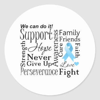 Prostate Cancer Supportive Words Stickers