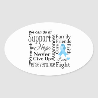 Prostate Cancer Supportive Words Sticker