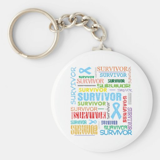Prostate Cancer Survivor Collage.png Keychain