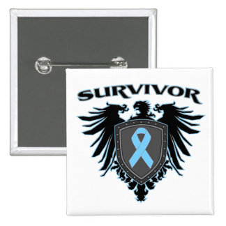 Prostate Cancer Survivor Crest 15 Cm Square Badge