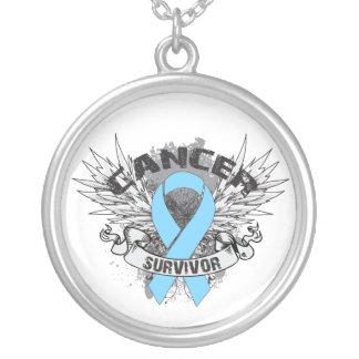 Prostate Cancer Survivor Grunge Winged Necklaces