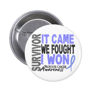 Prostate Cancer Survivor It Came We Fought I Won 6 Cm Round Badge