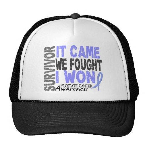 Prostate Cancer Survivor It Came We Fought I Won Trucker Hat