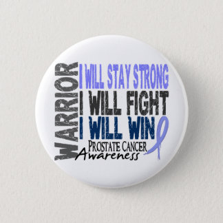 Prostate Cancer Warrior 6 Cm Round Badge