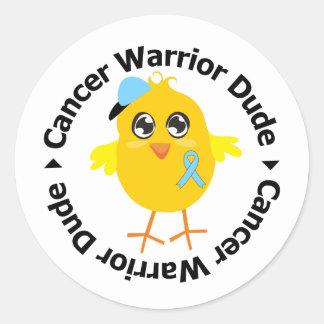 Prostate Cancer Warrior Dude Round Sticker