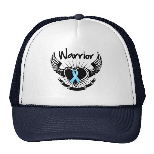 Prostate Cancer Warrior Fighter Wings Trucker Hats