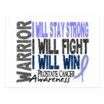 Prostate Cancer Warrior Postcard