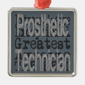 Prosthetic Technician Extraordinaire Silver-Colored Square Decoration