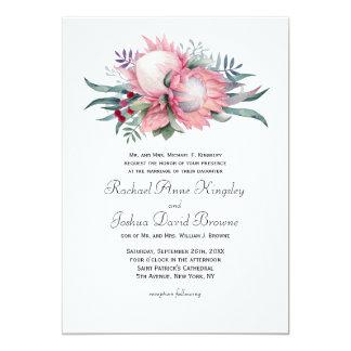 Protea Fantasy Floral Wedding Card