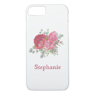 Protea Flowers Watercolor iPhone 8/7 Case