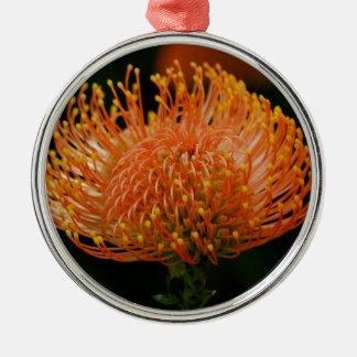 Protea Silver-Colored Round Decoration