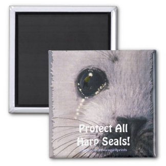 Protect All Harp Seals! Wildlife Magnet