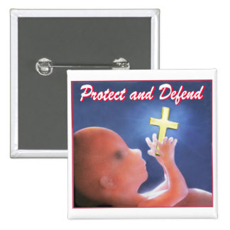 Protect and Defend 15 Cm Square Badge