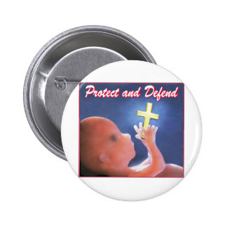 Protect and Defend 6 Cm Round Badge