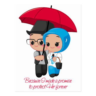 Protect Her forever Postcard