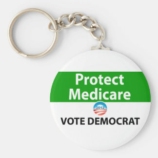 Protect Medicare: Vote Democrat Basic Round Button Key Ring