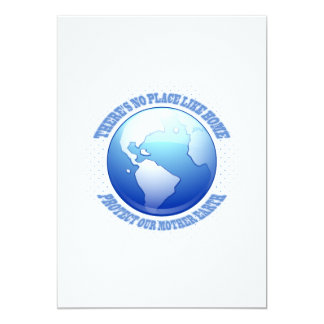 Protect Mother Earth 13 Cm X 18 Cm Invitation Card