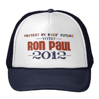 Protect My Kids' Future Ron Paul 2012 Hats