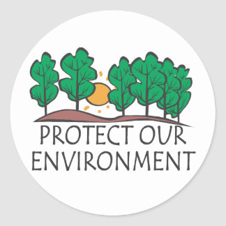 Protect Our Environment Round Stickers