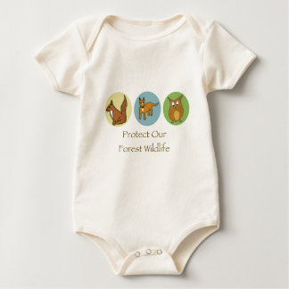 Protect our Forest Wildlife Baby Bodysuit