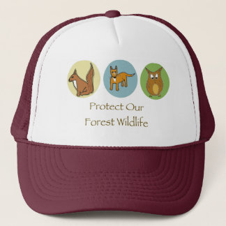 Protect Our Forest Wildlife Trucker Hat