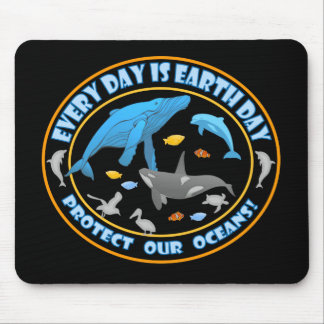 Protect Our Oceans Earth Day Mouse Pad