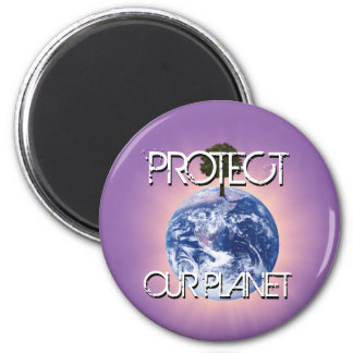 Protect our Planet 6 Cm Round Magnet
