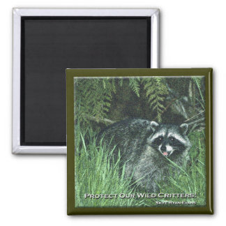 """PROTECT OUR WILD CRITTERS!"" Art Magnets"