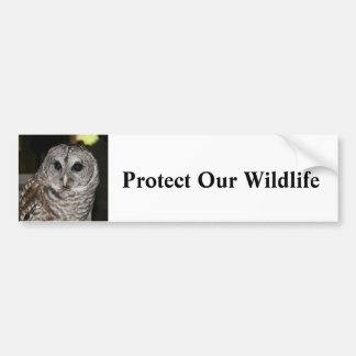 Protect Our Wildlife - Bumper Sticker